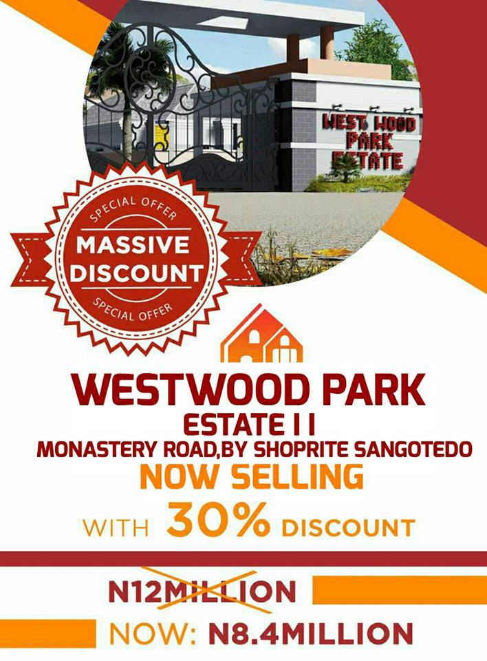 PLOTS OF LAND FOR SALE @ WESTWOOD PARK ESTATE II, SANGOTEDO