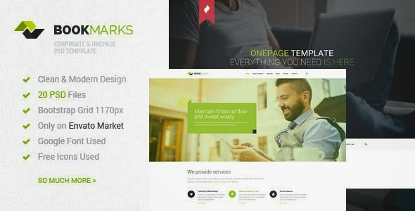 Best Corporate & OnePage PSD Template