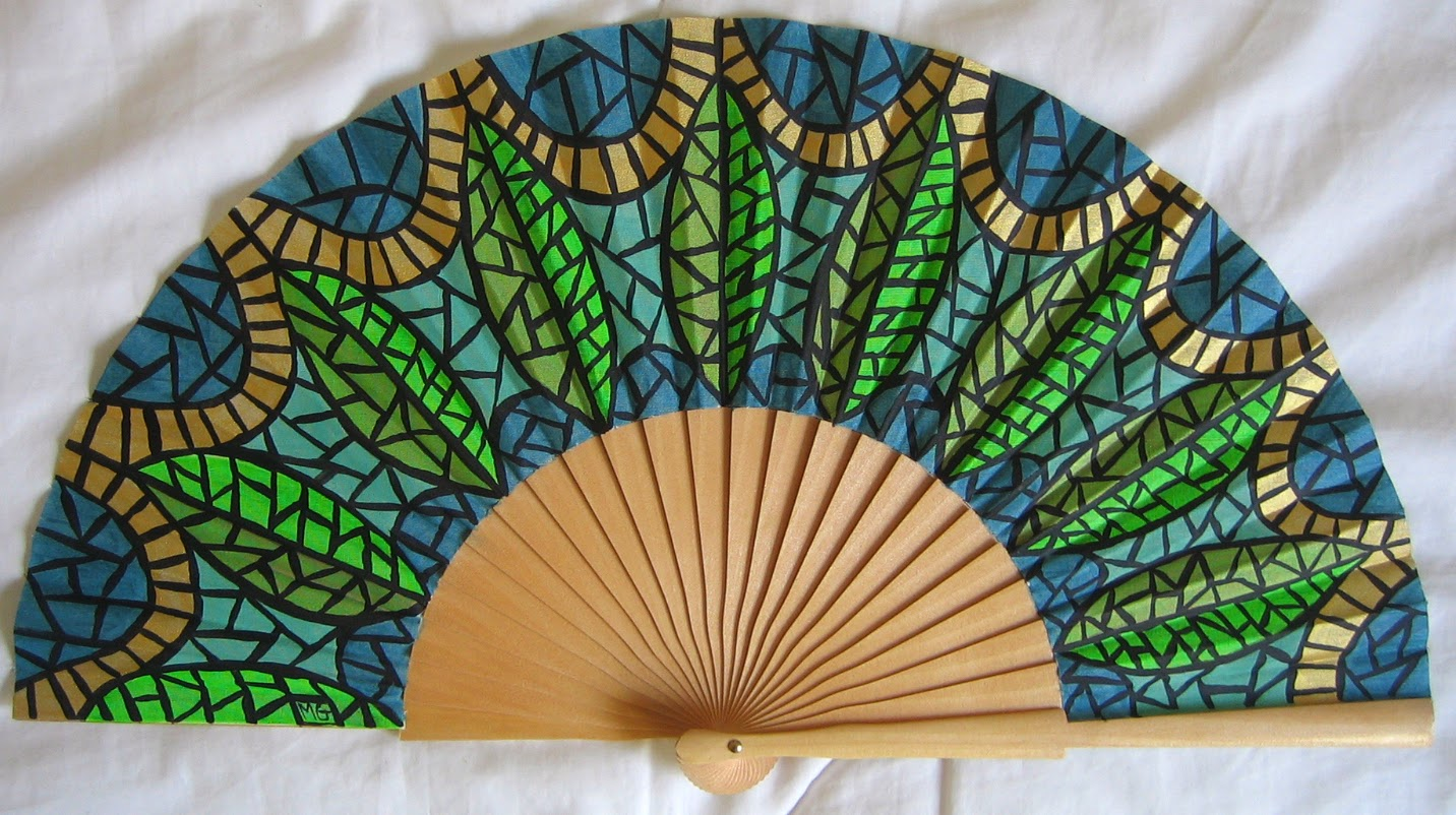 Menchu gamero abanicos pintados a mano de la serie - Como pintar abanicos ...