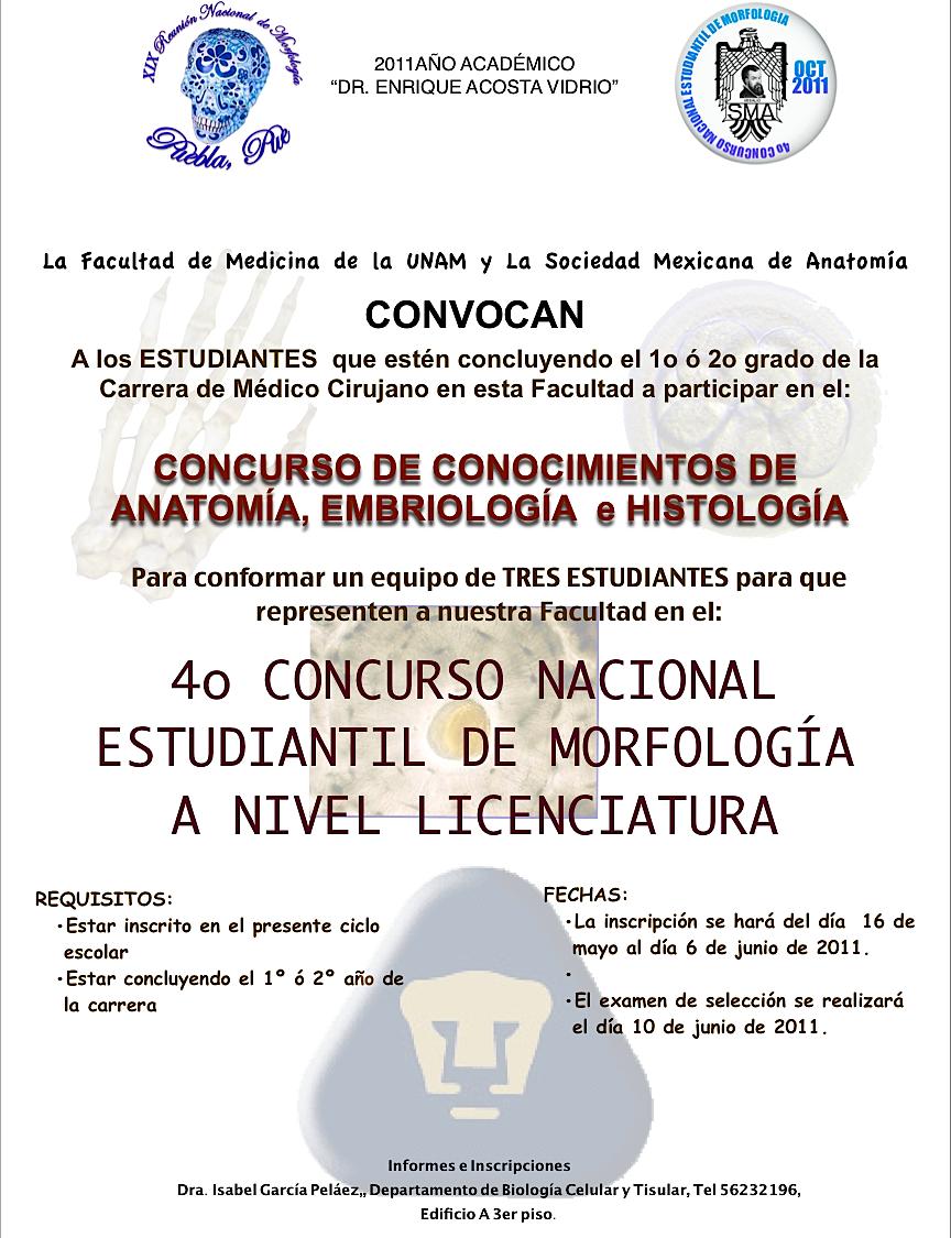 SOS BIOLOGIA CELULAR Y TISULAR: 4º CONCURSO NACIONAL ESTUDIANTIL DE ...