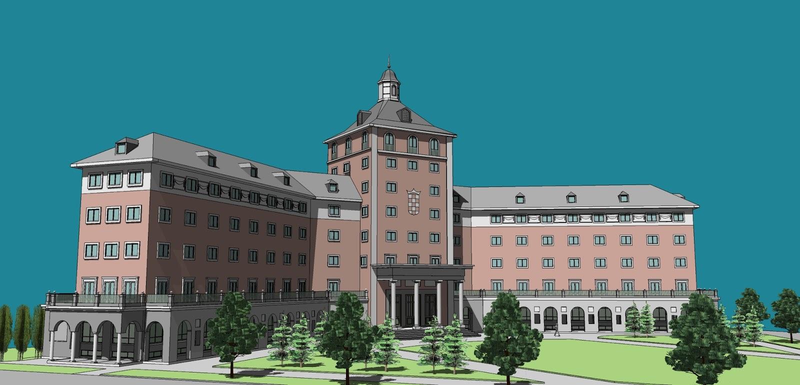 Edificios y m quinas colegio mayor jose antonio for Universidad complutense de madrid arquitectura