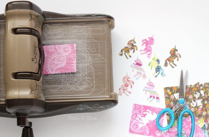 Cutting unicorns with the Sizzix BIGkick. www.pitterandglink.com
