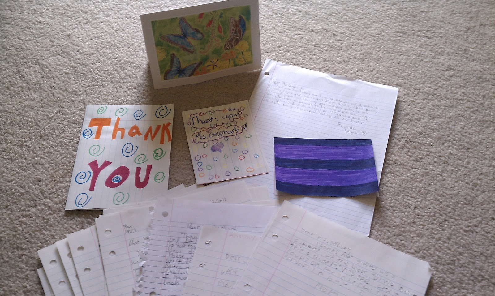 Wild About Words When You Give An Author A Thank You Letter