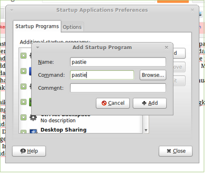 Menginstall Pastie (clipboard manager) di ubuntu 12.04Linux Mint 13