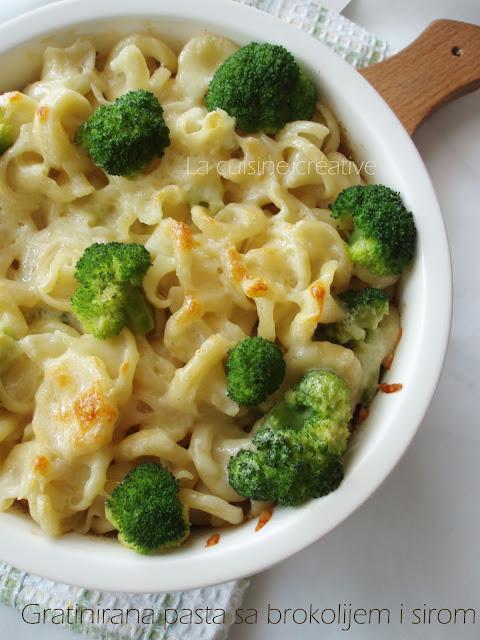 Gratinirana pasta sa brokolijem i sirom