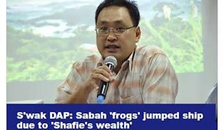 Lompat parti kerana kekayaan Shafie Apdal - Ketua DAP Sarawak