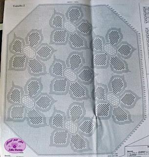 Tapete de Croche ou toalha de mesa de crochê com gráfico