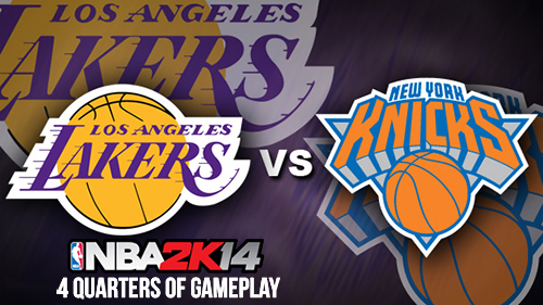 nba 2k14 knicks vs lakers full gameplay video nba2korg