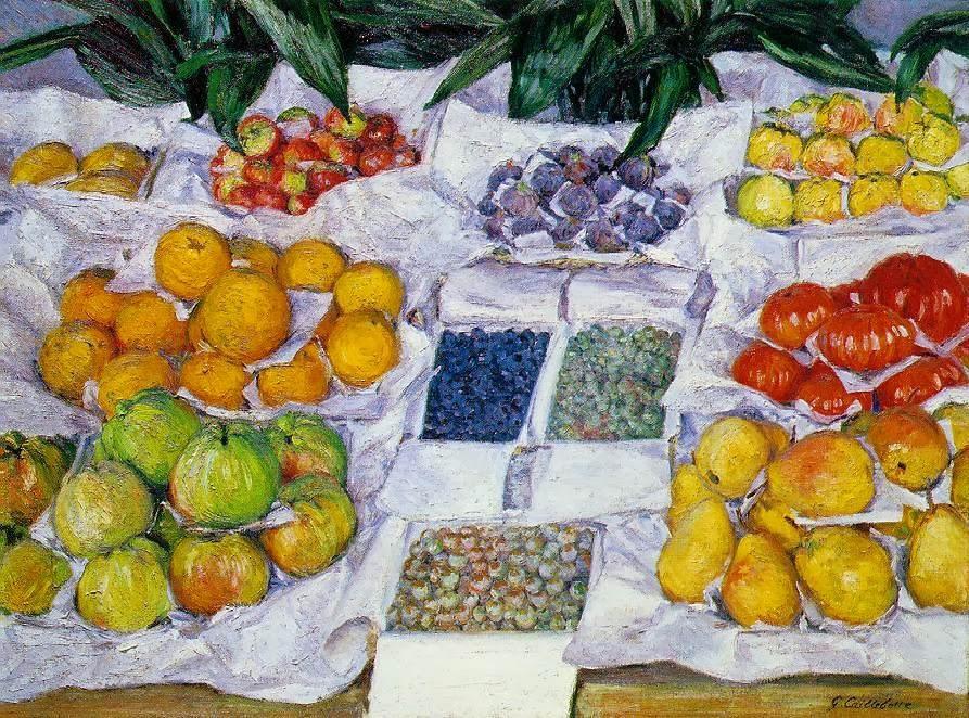 gustavecaillebotte Fruits sur un étalage (1882)