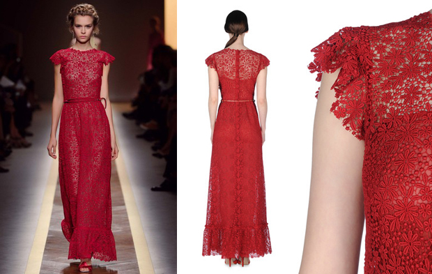 Lace Wedding Dress Red : Wedding dresses for lifetime top red