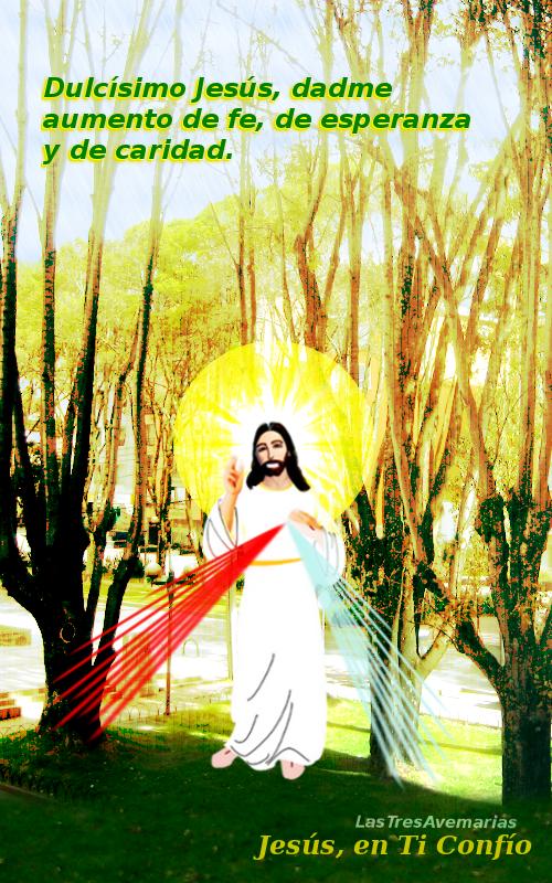 imagen con jesus y oracion para repetir cada vez que quieras