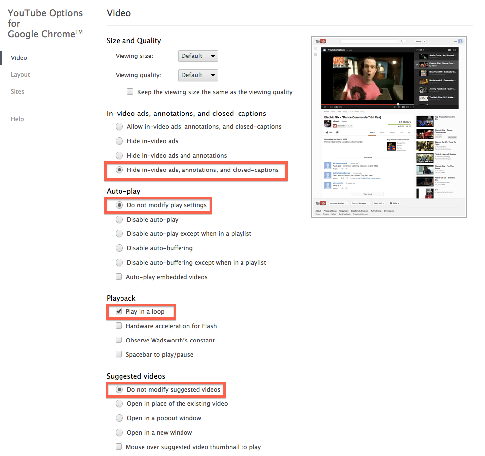 Youtube Options for Google Chrome設定術2:ESETセキュリティブログ