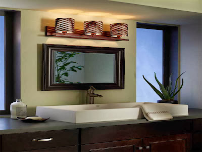contemporary bathroom vanities lighting