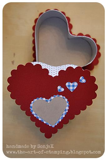 Geschenkschachtel zum Valentinstag