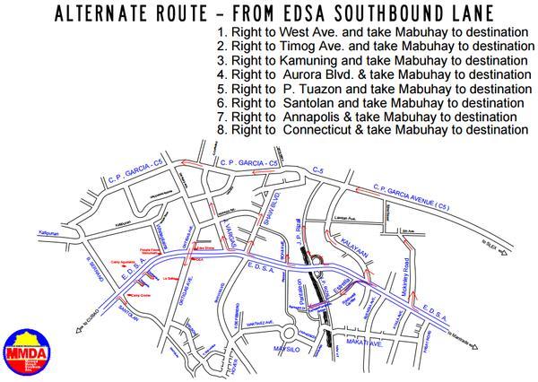 MMDA traffic advisory EDSA southbound  August 30