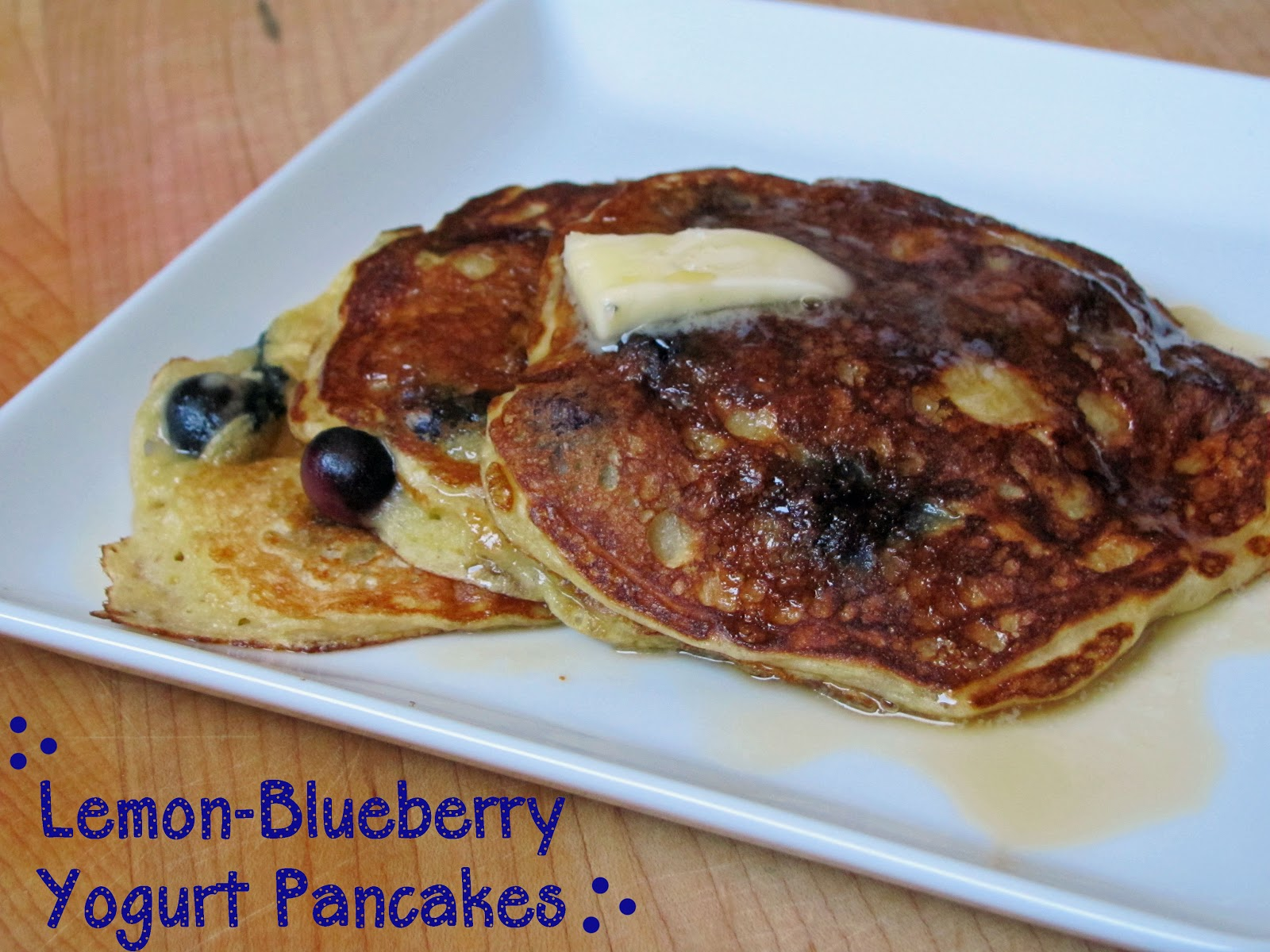 ... Girl Cooks: Lemon-Blueberry Yogurt Pancakes {Chobani Yogurt Giveaway