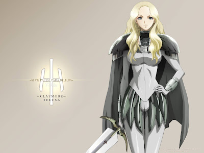 Claymore | Wallpaper | Big Sword | Anime Girl | Blonde Hair