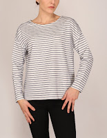 Bluza Stradivarius Dama Dark Blue Stripe ( )