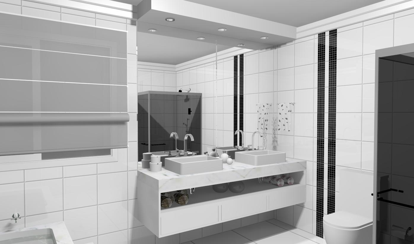 Design de Interiores ®: ' Banheiro Casal. #5B5751 1396 824