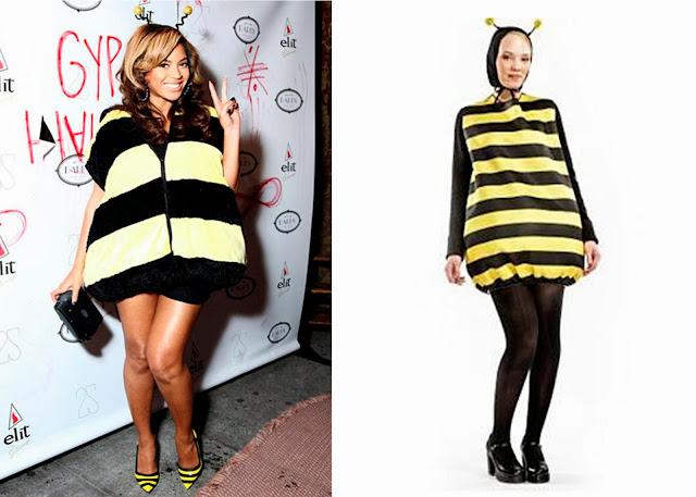 Beyonce disfrazada de abeja y disfraz abeja DIY