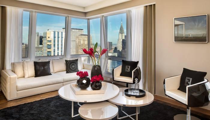 Teniay luxury fendi casa decora un tico de lujo en nueva york - Casas de lujo en nueva york ...