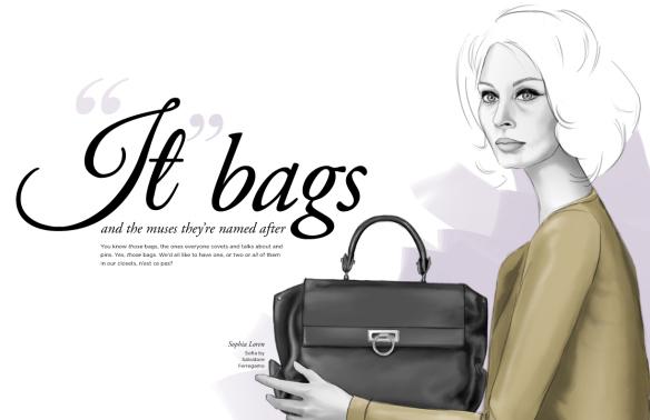 Figurinos de sucesso ilustra o it bags - Sofia gucci diva ...