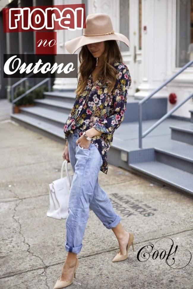 roupas da moda, calça boyfried com camisa feminina floral, moda feminina