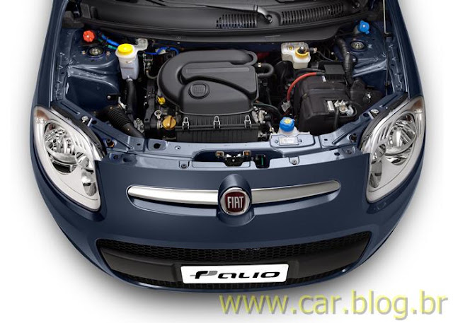 Novo Palio Attractive 1.4 2012 - compartimento do motor