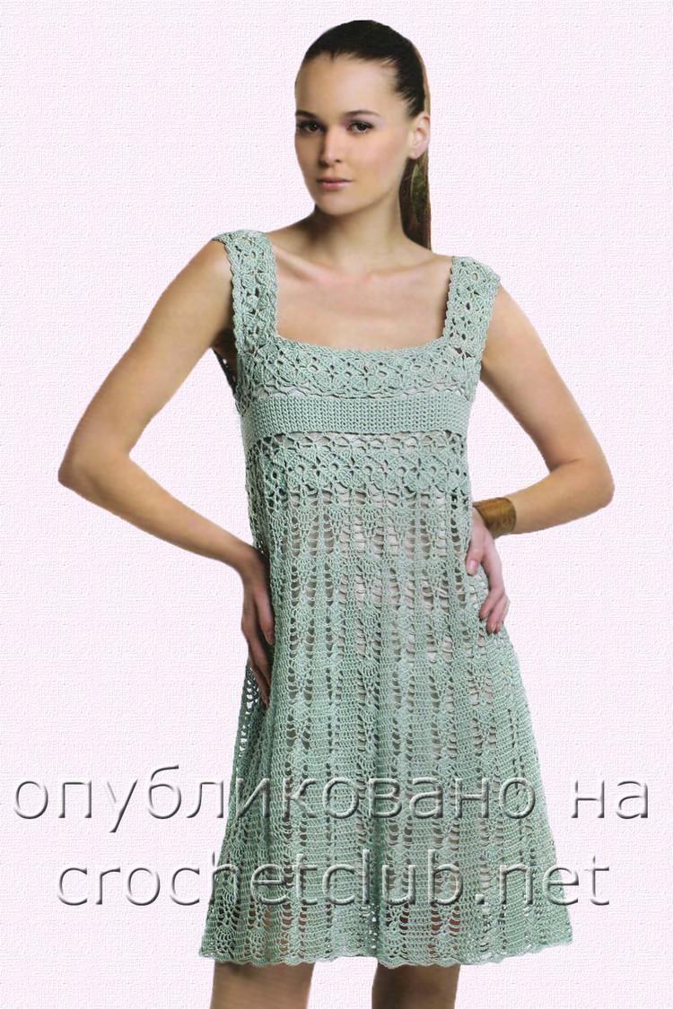 Vestidos crochet mujer patrones