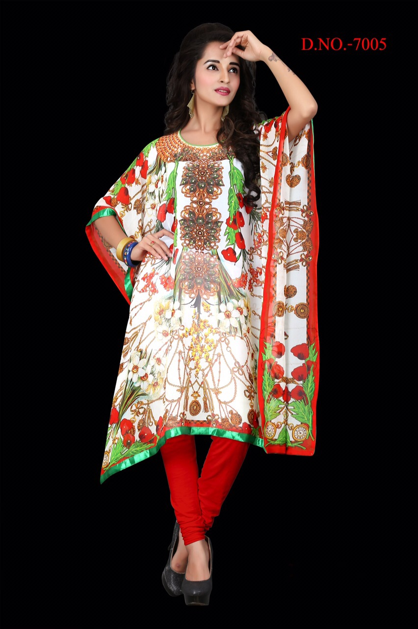Kaftans vol 1 georgette digital printed kurtis helix enterprise helix enterprise Fashion style questionnaire sample