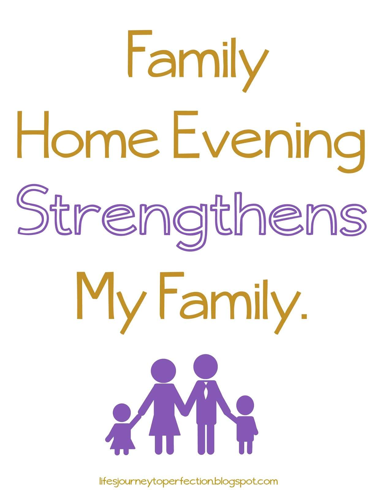 Life 39 s journey to perfection lds primary sharing time for Family quotes lds