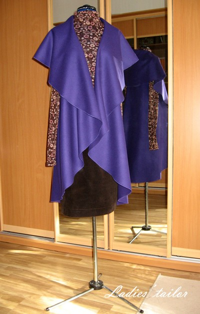 Накидка из пальтовой ткани