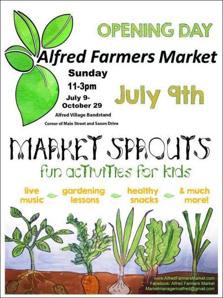 10-1 thru 10-29 Alfred Farmers Market