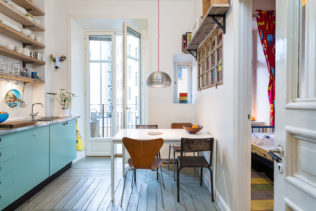 my scandinavian home: Eclectic Stockholm apartment