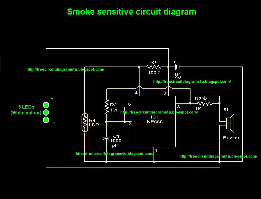 FREE CIRCUIT DIAGRAMS 4U: Smoke sensitive circuit diagram