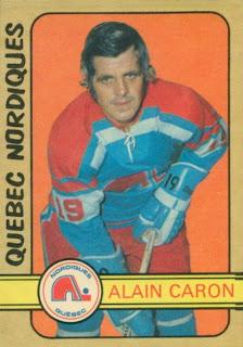 alain caron o-pee-chee hockey card quebec nordiques