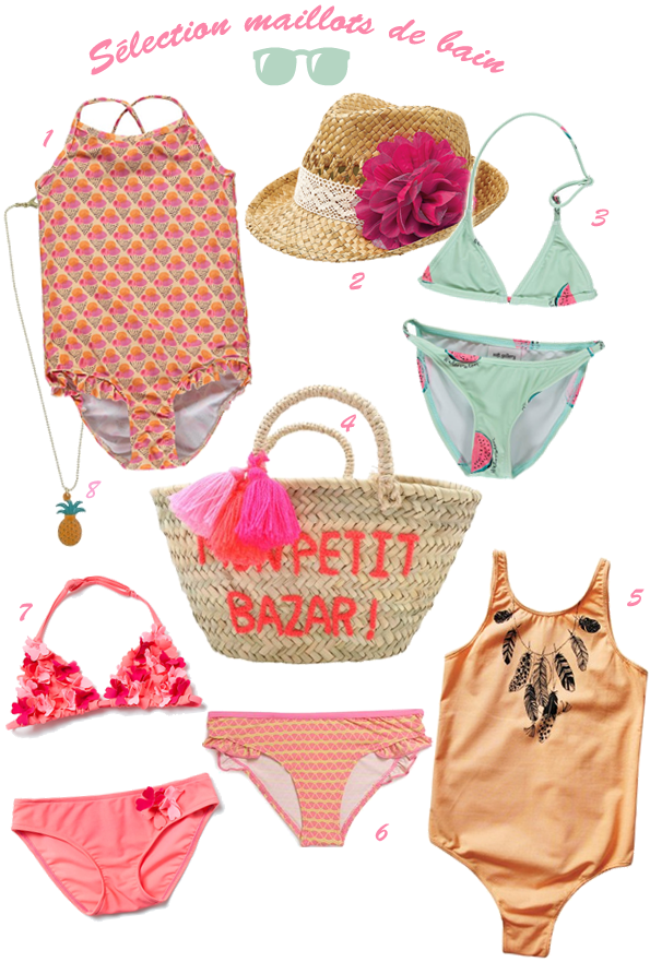 Sélection 2015 de maillots de bain pour fillette