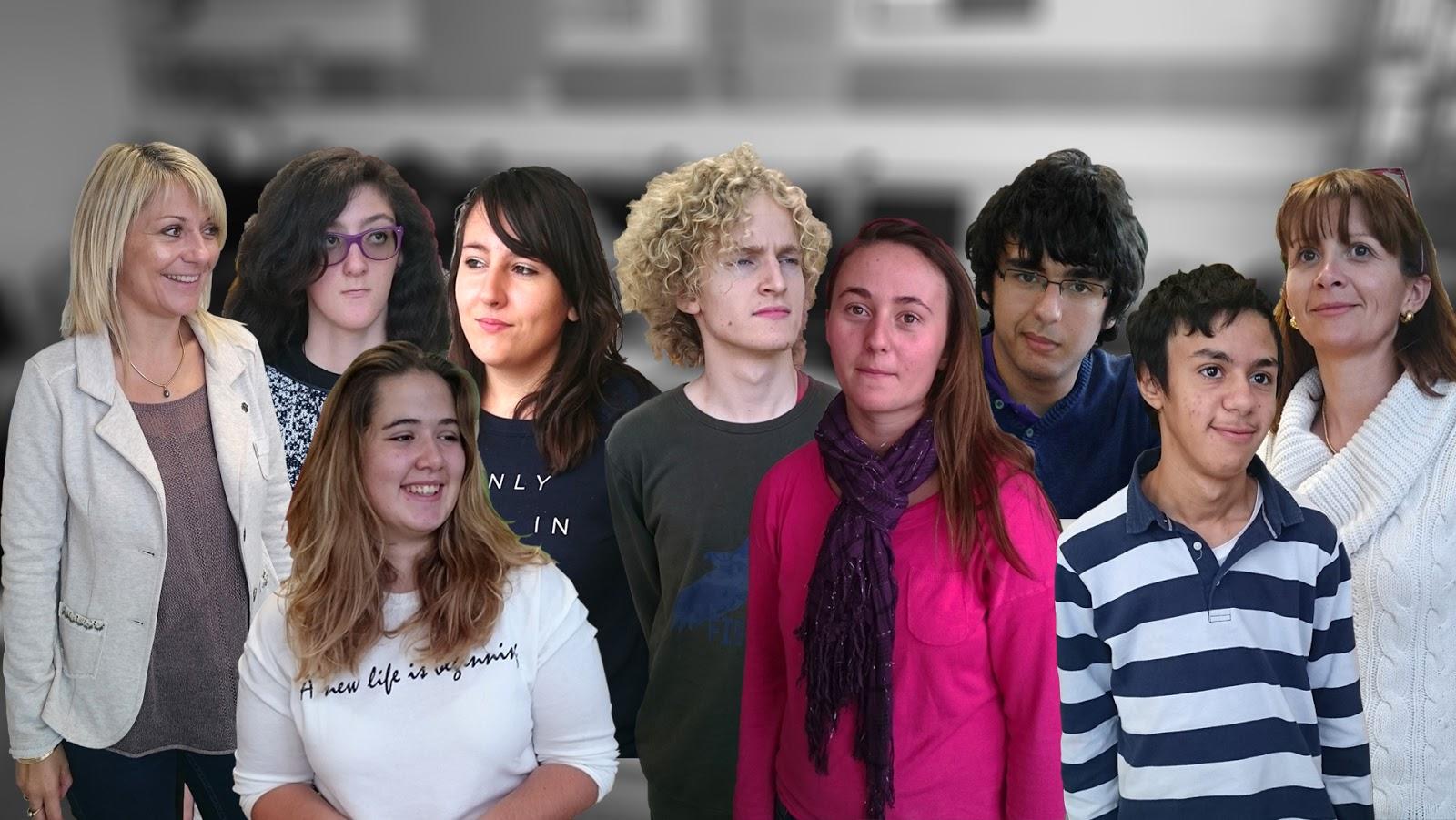 Grande photo avec tous les élèves de l'ULIS et leur enseignants