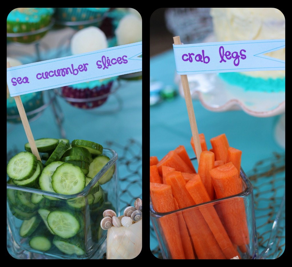 Mermaid party ideas design dazzle - Deco snack ...