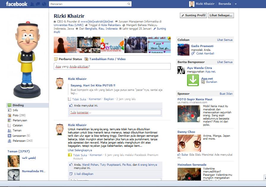Cara Merubah TimeLine Facebook ke Tampilan Lama