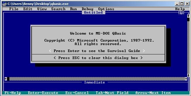 qbasic windows 7 32 bit