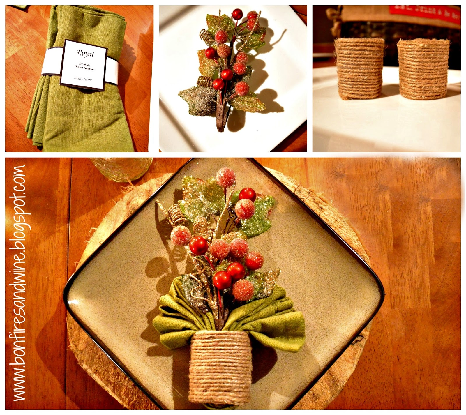 Bonfires and wine our woodland christmas table