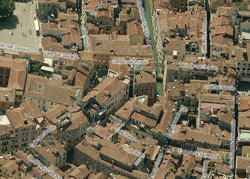 Mappa: Venezia dall'alto