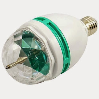 LED Rotating Multi-Colored Lamp Bulb