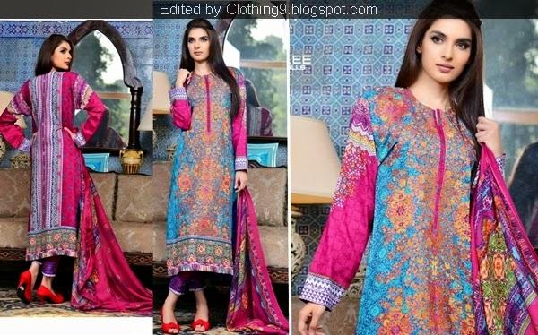 Jubilee Karam Pashmina Shawl-2014-15 Vol-5