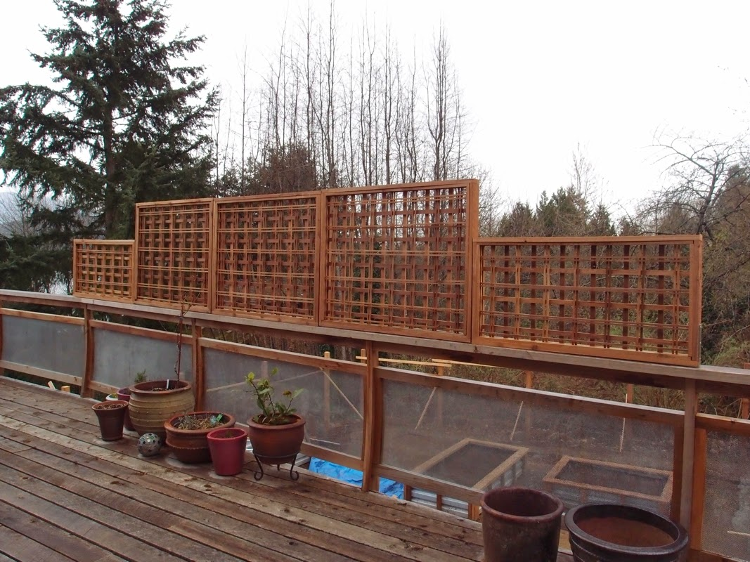 Trellis for a deck, red cedar