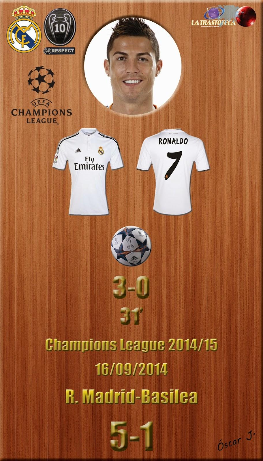 Cristiano Ronaldo (3-0) (Golazo de CR7) - Champions League. Jornada 1 (16/09/2014)