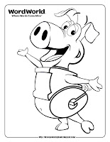word world pig coloring pages