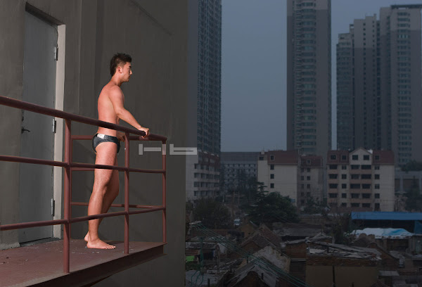 Hong Dou - beautiful Chinese male in underwear