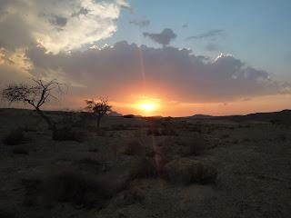 celestial desert sunset